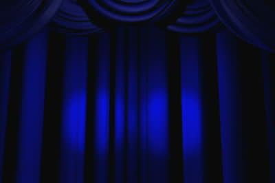 Curtains Ideas blue stage curtains : stock-footage-blue-spotlights-on-theater-curtains | Calgary Young ...