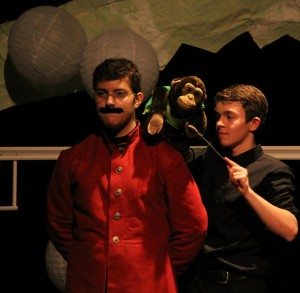 Kyle as Ram Dass and Robert as his monkey in A Little Princess (2013).