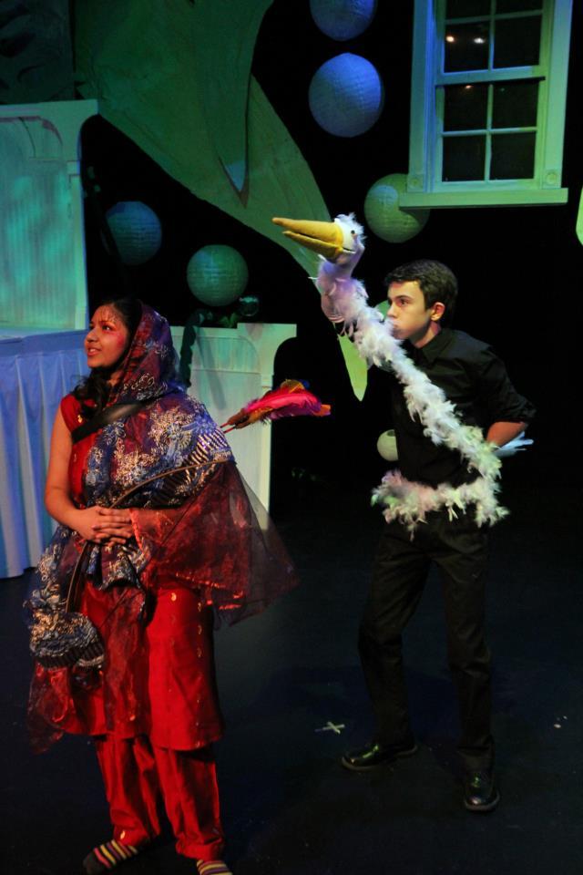 Juanita as Princess Sita and Robert as Stella the Whooping Crane in A Little Princess (2013)