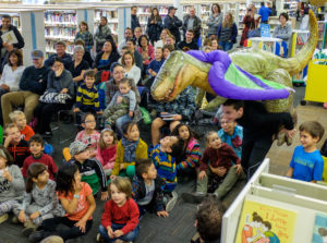 Grady Galbraith and other cast members perform The Paper Bag Princess and Other Munsch Magic at the Shawnessy Library in Calgary on Saturday, Nov. 14, 2015. (Photo by Rob Galbraith/Little Guy Media)